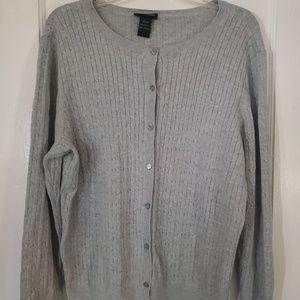 Lane Bryant Woman's 18/20 Gray Button Sweater